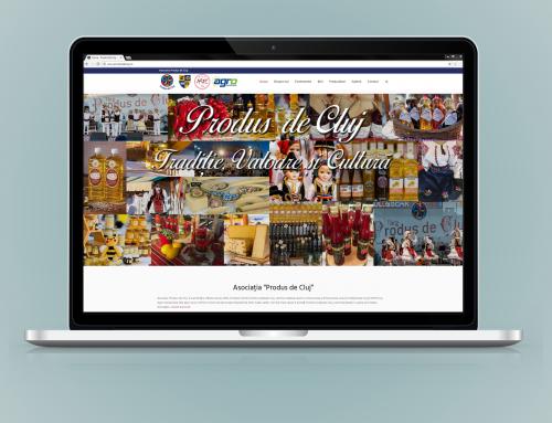 Produs de Cluj – design site web