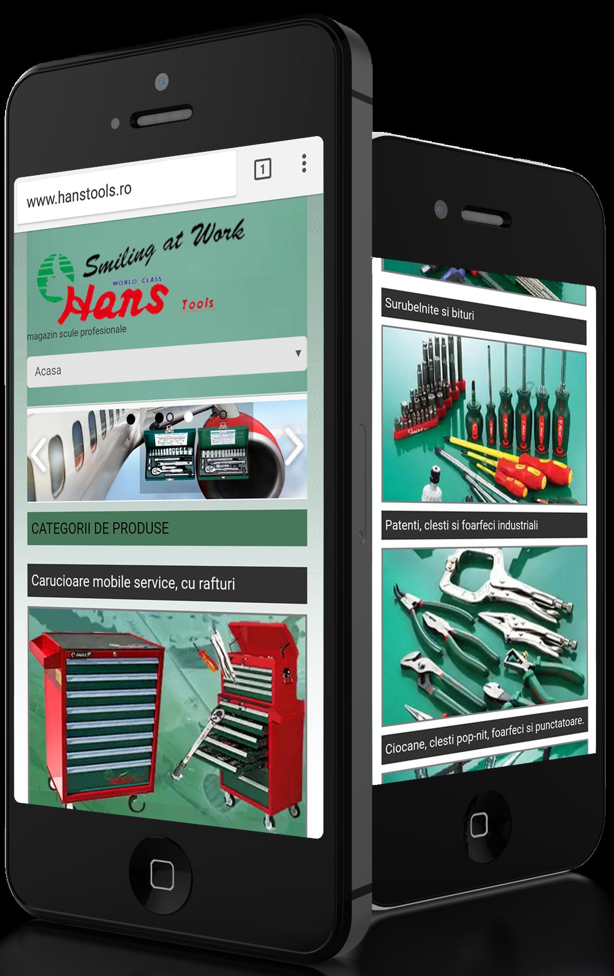 Hans Tools dezvoltare site web