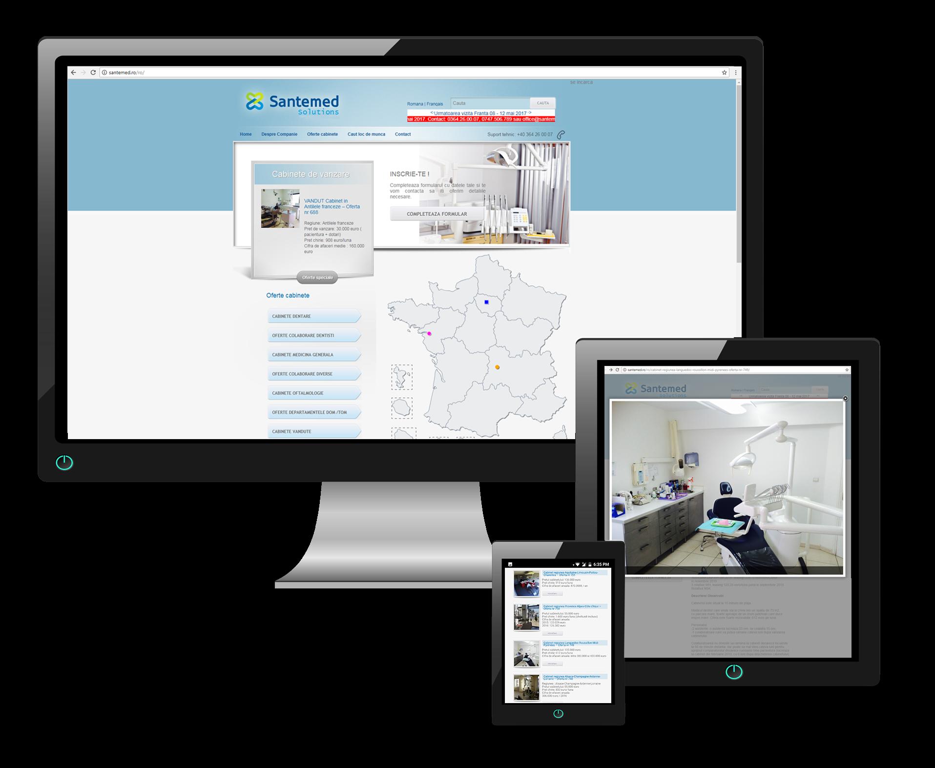 creare website Santemed by Transilvania Soft & Web Design