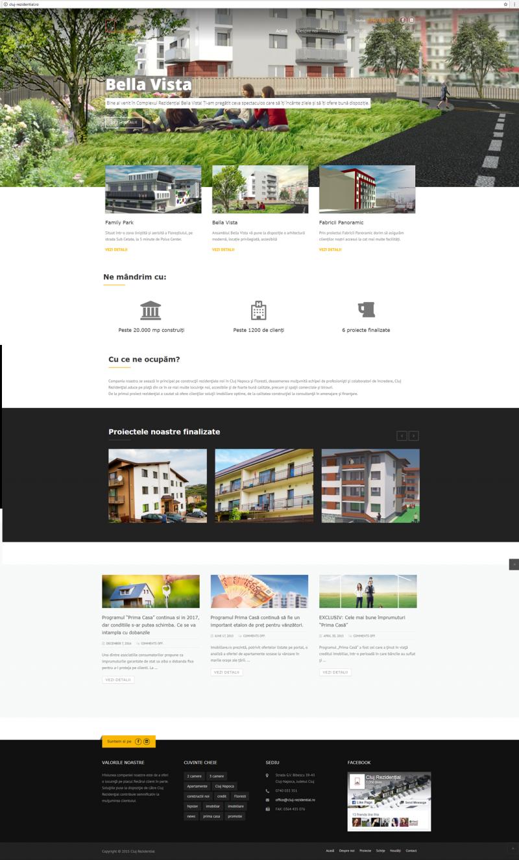 dezvoltare website Cluj-Rezidential