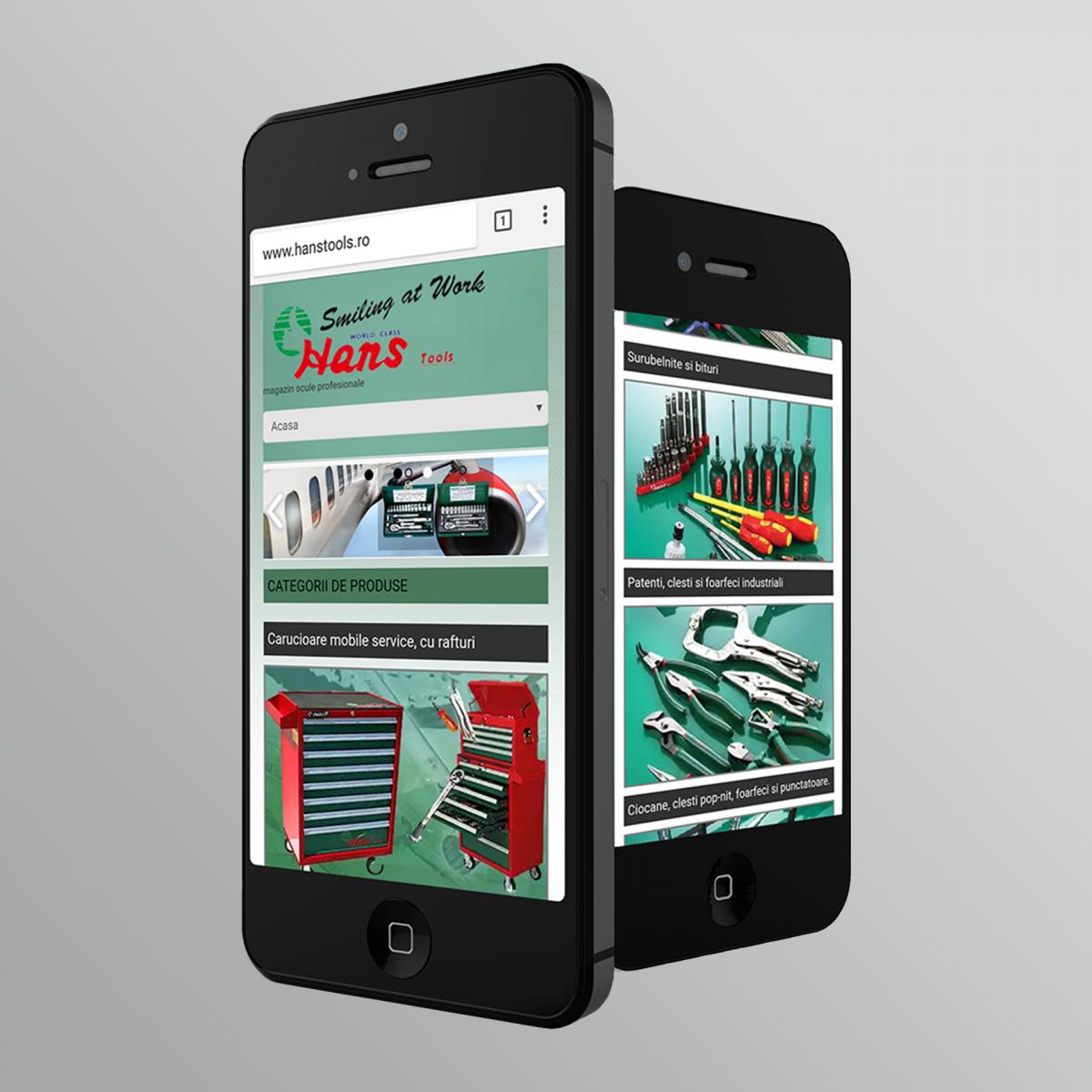 Hans Tools dezvoltare site web Hans Tools