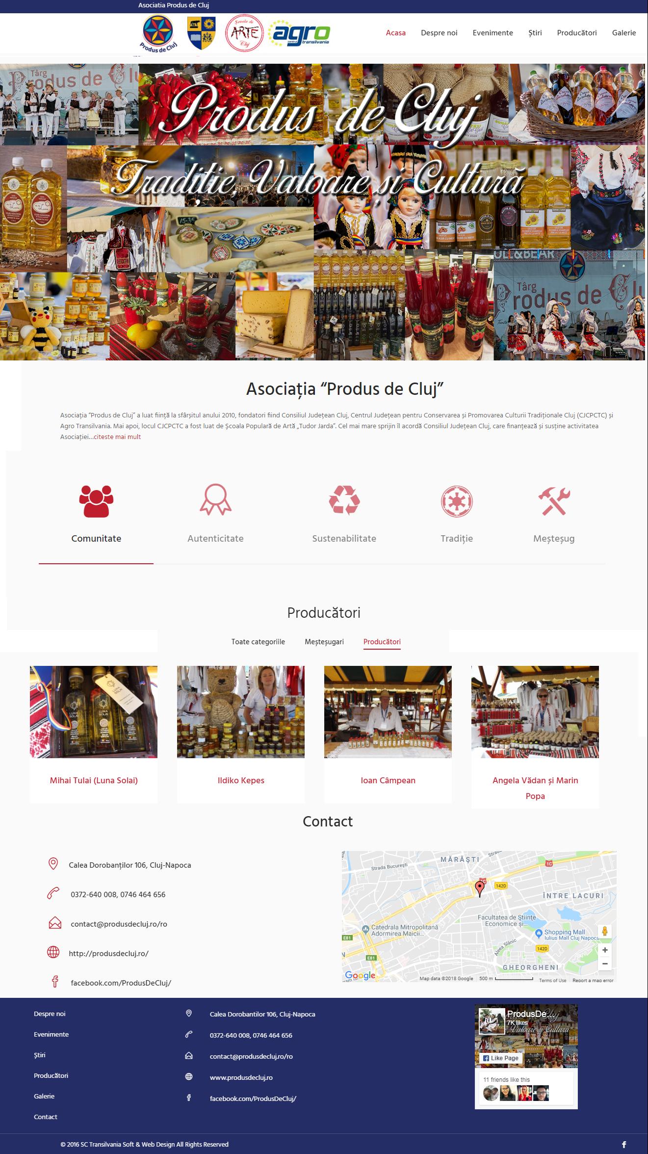 website prezentare Produs de Cluj