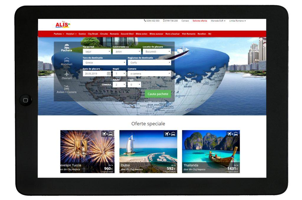 website Alis Holidays Transilvania Soft